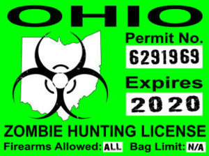 Ohio Zombie Huting License Image